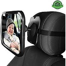 Espejo coche bebe GKONGU 30*19CM Espejo Retrovisor de Bebé Espejo para vigilar al bebé en el coche Espejo de coche de bebé para la conducción segura
