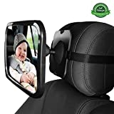 Miroir Auto Bébé GKONGU Miroir de voiture pour bébé 30*19CM Miroir de Sécurité pour Bébé 360° Réglable Pour une conduite sûre