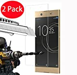 FoneExpert® 2 Pack - Sony Xperia XA1 Ultra Verre Trempé, Vitre Protection Film de Protecteur d'écran Glass Film Tempered Glass Screen Protector pour Sony Xperia XA1 Ultra