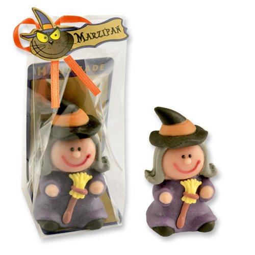 2 Marzipan Hexe, einzeln verpackt, für halloween und fasnacht