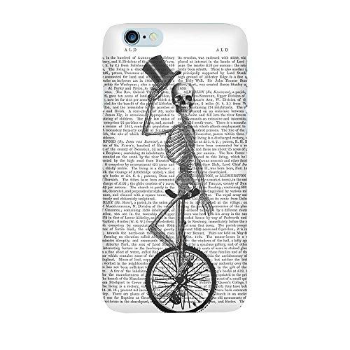 """artboxONE Handyhülle Apple iPhone 6s, schwarz Hard-Case Handyhülle """"Tod fährt Einrad Case"""" - Tiere - Smartphone Case mit Kunstdruck hochwertiges Handycover von FabFunky Premium Case"""