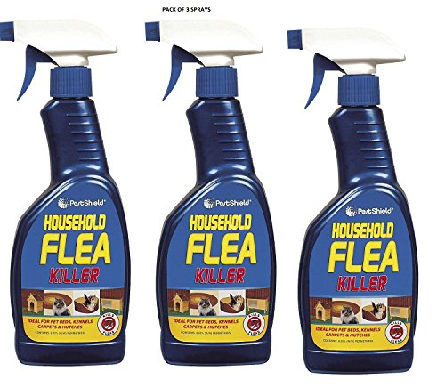 HOUSEHOLD FLEA KILLING SPRAY FOR DOG,BED,CAT CARPET FURNITURE (500ml)BED BY 151 (PACK OF 3 SPRAYS)