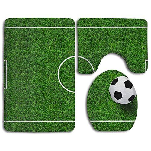 Juego 3 alfombras baño fútbol diseño Campo fútbol
