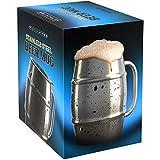 Nuvantee Jarra de Cerveza - Jarra de Acero Inoxidable Premium/Taza de Café con Tapa Bonus - 500ml de Doble...
