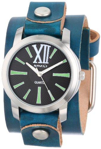 Nemesis GVGB065KG - Reloj de pulsera Mujer, piel, color Verde