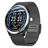 ZYWTZ HKANG® Smart Watch Bluetooth 4.0 EKG-Anzeige Soziale Unterhaltung Informationstaste Gesundheitsüberwachung Multifunktional Smartwatches,A