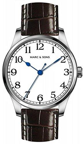 MARC & SONS Marine Automatik Herrenuhr weiß, Miyota 9015 - Referenz MSM-004