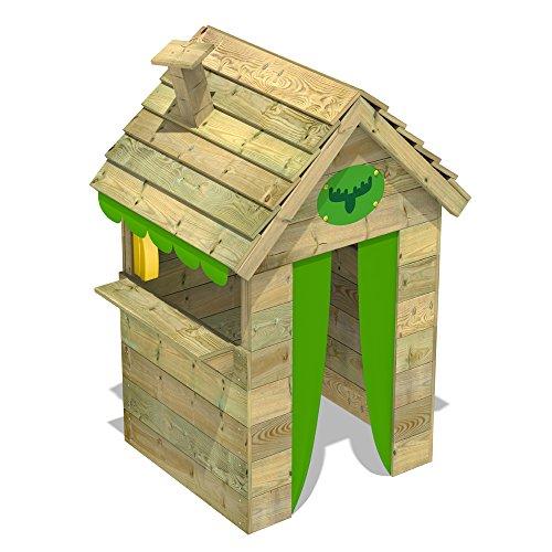 FATMOOSE Kinder-Spielhaus BeetleBox Bling XXL Spielhaus Garten Holz mit hoher Theke und Dach mit Schornstein - 4