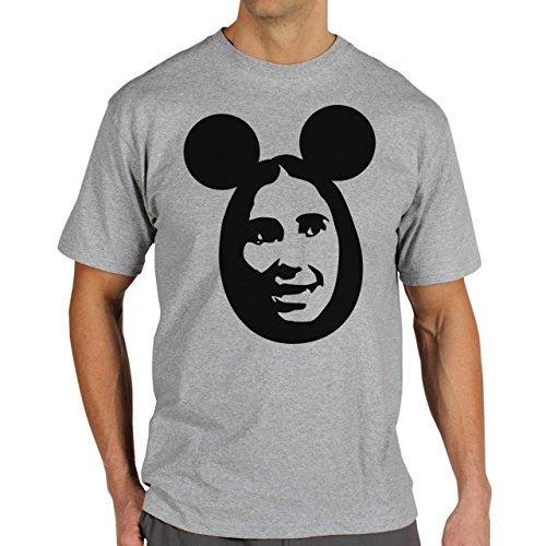 Mickey Mouse Disney Dope Icon Swag Colour Face In Face Stamp Herren T-Shirt Grau