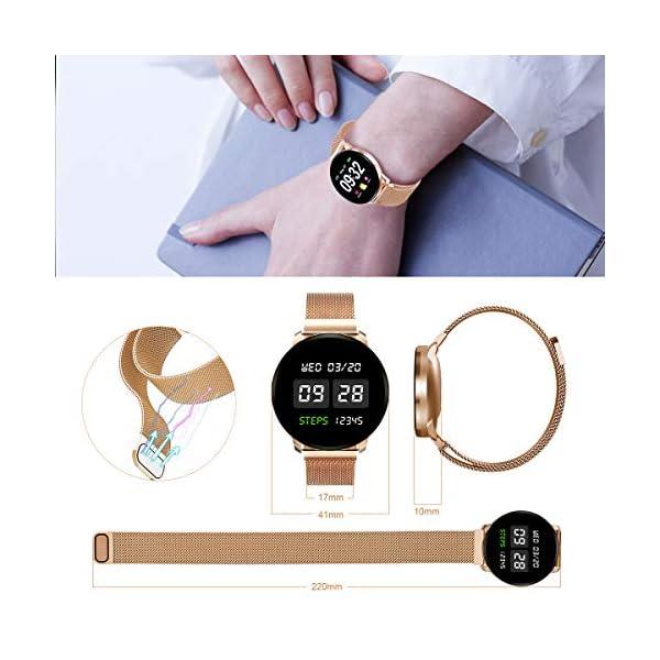 GOKOO Smartwatch Fashion para Hombre Mujer Impermeable Reloj Inteligente Monitores de Actividad Fitness Tracker con… 9