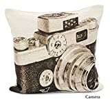 "Textileonline 18x18"" Tapestry Vintage Design Cushion Cover(camera)"