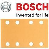 Bosch Genuine Klett Best for Wood Schleifblätter, Grit=80 (zugeschnitten - Bosch PSS 2 A, PSS 200 A, PSS 250 A, PSS 250AE, GSS 23AE, GSS 230 A, GSS 230AE, GSS 230AVE Schleifer) (keine Bosch Pt 2608607924) (, 1 Packung mit 50 Blatt) C/W KeyTape STANLEY