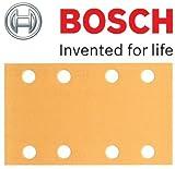 Bosch Genuine Klett Best for Wood Schleifblätter, Grit=40 (zugeschnitten - Bosch PSS 2 A, PSS 200 A, PSS 250 A, PSS 250AE, GSS 23AE, GSS 230 A, GSS 230AE, GSS 230AVE Schleifer) (Bosch Pt No 2608607922) (, 1 Packung mit 50 Blatt) C/W KeyTape STANLEY