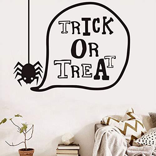 Ayhuir Süßes Oder Saures Schöne Spinne Halloween Wandaufkleber Für Kinderzimmer Wanddekor Dekoriert Kunst Aufkleber Halloween Hauptdekorationen (Kuchen Dekoriert Halloween)
