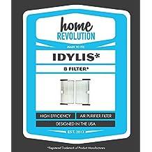 Home Revolution marca Filtro Purificador de aire HEPA Idylis B; Repuesto diseñado para adaptarse a Idylis IAP-10–125, IAP-10–150, modelo # iaf-h-100b, iafh100b