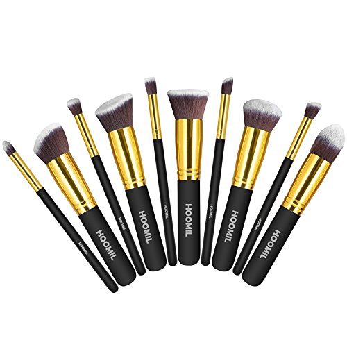 Make Up Pinsel Set, HOOMIL 10 Stück Kosmetikpinsel Professionelle Pinselset mit Gesichtspinsel Lidschattenpinsel Lippenpinsel Augenpinsel Schminkpinsel Set
