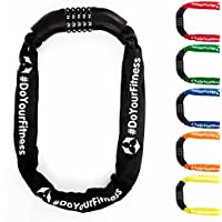 #DoYourFitness Cadenas a chiffres »CloseUp«/idéal pour vélos, scooters, mobylettes, portails & motos/Dimensions : 85cm L, 25cm D/100 000 combinaisons possible/nombreuses couleurs disponible
