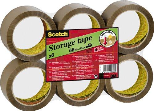 3M  Scotch S5066B6 - Nastro adesivo da imballaggio, 6 rotoli, colore: Marrone