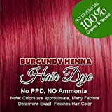 Henna Hair Color – 100% Organic and Chemical Free Henna for Hair Color Hair Care Burgundy Henna Henna Hair Dye 120 Grams (2 Pa...