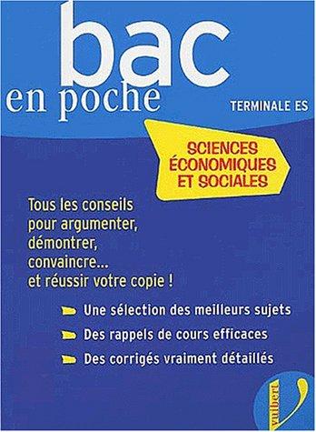 Bac en poche : Sciences economiques et sociales série ES