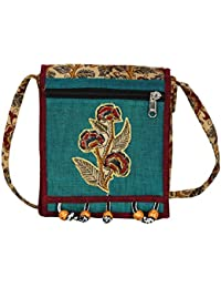 Anuradha Cotton Kalamkari Flower Printed Multicolor Sling Bag