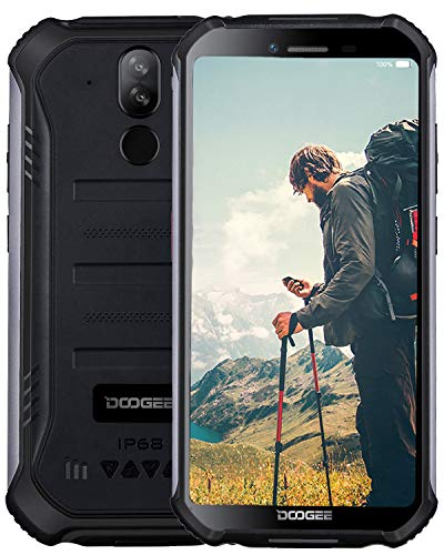 DOOGEE S40 (3GB+32GB) - Outdoor Handy 4G Android 9 Robustes Smartphone Ohne Vertrag IP68 / IP69K Wasserdicht Stoßfest Staubdicht - 5,5 Zoll (Gorilla Glas 4) 4650mAh Dual SIM GPS Kompas NFC-Schwarz