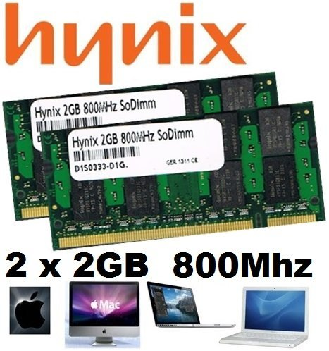 4GB Dual Channel Kit HYNIX original 2 x 2048MB 200 pin DDR2-800 (PC2-6400) SO-DIMM double side für DDR2 NOTEBOOKs 2048 Kit