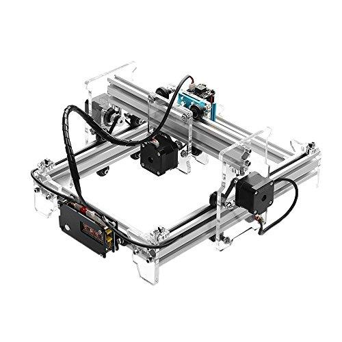 KKmoon A5 Pro 2500mw Strumenti per Incisione, DIY Mini Macchina di Incisione del Laser,Laser Engraving Machine 130mm x 200mm Incisione Sulla Cassa del Telefono / Mouse / Segnalibro,Argento