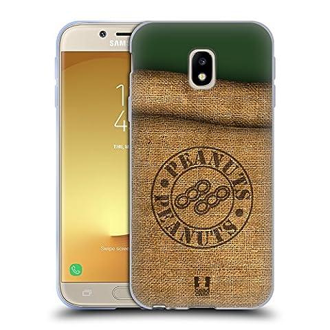 Head Case Designs Erdnüsse Tekefon In Einem Sack Soft Gel Hülle für Samsung Galaxy J3 (2017)