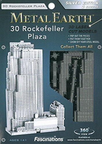 Fascinations Metal Earth MMS061 - 502559, Rockefeller Plaza, Konstruktionsspielzeug, 2 Metallplatinen, ab 14 Jahren