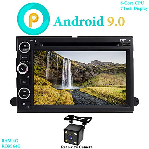 "XISEDO 7"" Android 9.0 Autoradio 6 Core RAM 4G ROM 64G In-Dash Car Radio Autonavigation mit DVD Player für Ford Explorer, F150, Mustang, Fusion (mit Rückfahrkamera)"