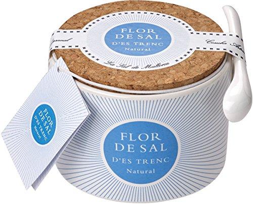 Gusto Mundial Flor de Sal d\'es Trenc Natural - in Keramikdose, 1er Pack (1 x 100 g)