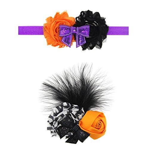 dooppa 2Baby Halloween Elastic Hair Band & Haar Clip Cosplay Haar Zubehör