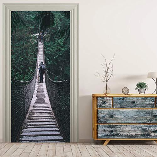 Hängebrücke Wandbilder Wandaufkleber Tür Aufkleber Tapete Aufkleber Home Decoration