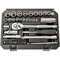 Haskyy 52tlg beaucoup à dents Gear Lock Profil Torx XZN Profil E Set 12pans 6pans–Harley–zöllisch–Douilles métriques 1/4& 3/8–Noix Embouts 4–19mm