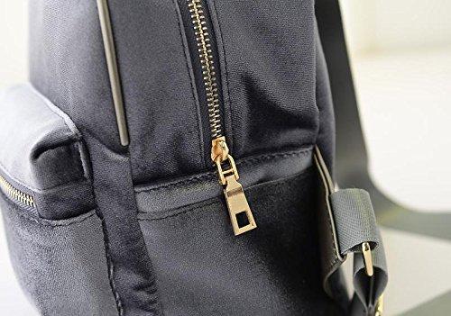 Schwarz Gaorui Grau Mädchen aus Rot Schulranzen Schulrucksack Schultasche Samt Retro Rucksack 8U7p8rAq