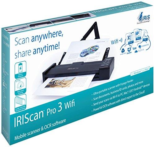 IRIS 458071 Pro 3 WiFi IRIScan Scanner (600x600 dpi, USB 2.0) schwarz - 2