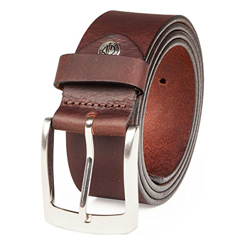 LINDENMANN- Cinturón de cuero para hombre , xxl, tamaño color marrón oscuro, 393, tamaño: 105