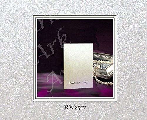Schatzhaus Zusammensetzung Hochzeit Einladung silber geprägt 310GSM 10pro Pack (2571)