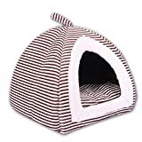 2 in 1 pet bed and sofa, High quality PP cotton, High elasticity, Soft and comfortable antistatic, Suitable for all seasons, 3 color 3 yards optional (For small and medium pets) , coffee , medium