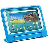 Funda Infantil Cooper Cases (TM) Dynamo para Samsung Galaxy Tab S 8.4 / LTE en Azul + Protector de Pantalla gratuito (Ligera, absorción de impactos, Espuma EVA segura para los niños, Asa incorporada, y soporte para visionado)