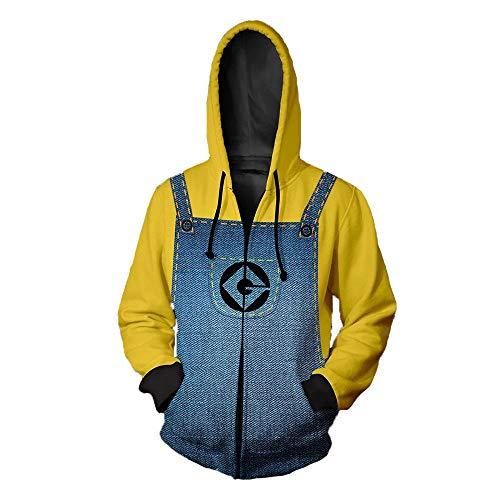 Lklik Männer Frauen Unisex 3D Print Hoodie Sweatshirt Kleiner gelber Mann XL