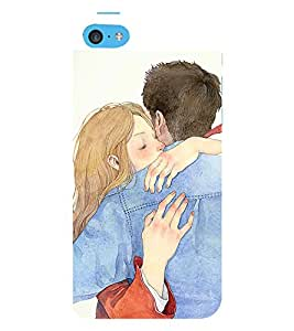 99Sublimation Hug of lovers 3D Hard Polycarbonate Back Case Cover for Apple iPhone 5c
