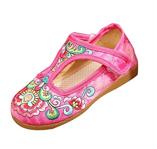 SK Studio Enfant Fille Ballerines Plat Brodé Espadrilles Traditionnelles Chaussures