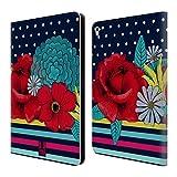 Head Case Designs Rayures De Polka Florales Motifs Mistes Étui Coque De Livre En Cuir Pour Apple iPad Pro 9.7