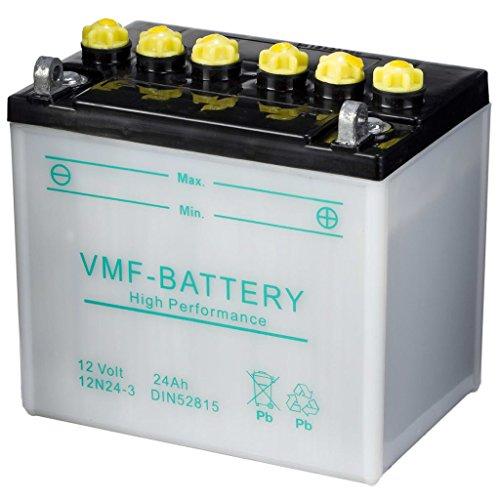 VMF Powersport Batterie 12 V 24 Ah 12N24-3 Batterie Moto Batterie de scooter