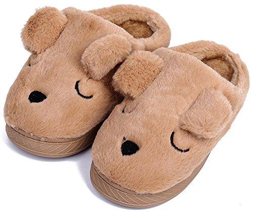 UIESUN Unisex - Kinder Doggy Kinderschuhe für mädchen und 9-10 m us-Kleinkind braun