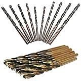 KINYOOO Broca de Acero de Alta Velocidad HSS, Brocas de Acero de Alta Velocidad de Cobalto, Broca Metálica, 3mm 2P, 3.5mm 2P, 4mm 2P, 4.5mm 2P, 5mm 2P (10 unidades)