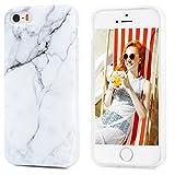 iPhone 5 5S Marmor Handyhülle,KASOS iPhone SE Marble Hülle Silicone TPU mit IMD Technologie,Grau und weiß design