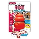 Kong Aqua mit Wurftau Größe: M, Hundespielzeug, Geschicklichkeitsspiel für Tiere